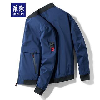 ROMON 罗蒙 罗蒙 2021新款男士夹克外套  深蓝色 XL(建议121-135斤)