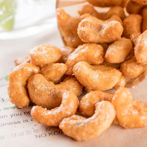 北漠果业 新货腰果原味炭烤烧盐焗坚果零食大颗粒腰果仁散装