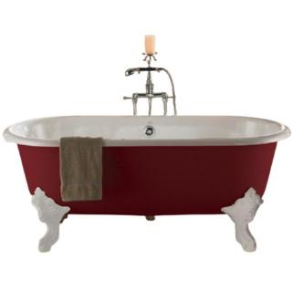 KOHLER 科勒 歌莱系列 K-11195T-RF 经典独立式浴缸 红色