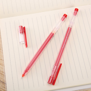 M&G 晨光 AGPY5501 拔帽中性笔 红色 0.5mm 12支装