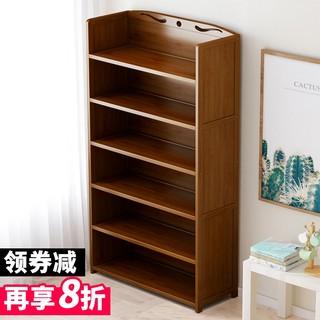 书架置物架落地实木儿童简易书柜子省空间学生桌上多层收纳架家用