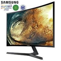 SAMSUNG 三星 三星曲面显示器C24F396FHC 23.5英寸HDMI笔记本扩展24显示屏PS4