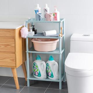 好益家 浴室置物架卫生间脸盆架厕所洗手间塑料收纳架子多层三角架落地式