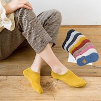女士长袜子纯色全棉中筒袜男短袜防掉跟袜子秋冬保暖护脚袜百搭袜