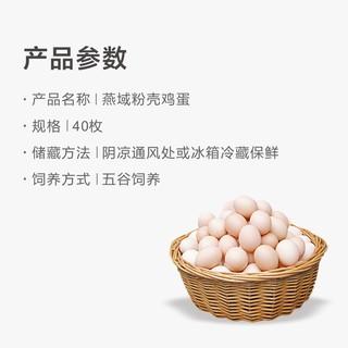 燕域田园 土鸡蛋 40g*40个装 新鲜草鸡蛋柴鸡蛋笨鸡蛋五谷散养