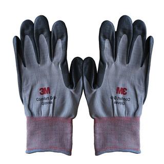 3M 耐磨手套  舒适型 灰色L