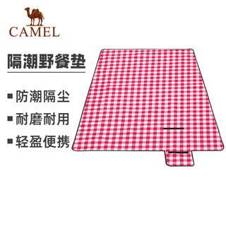 CAMEL 骆驼 CAMEL骆驼户外野餐垫正方形防潮垫清新格纹图案便携防水折叠网红旅游露营用品