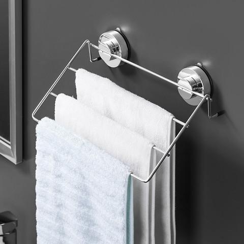 deHub 毛巾架免打孔卫生间浴室浴巾挂架厕所壁挂毛巾挂钩毛巾收纳置物架