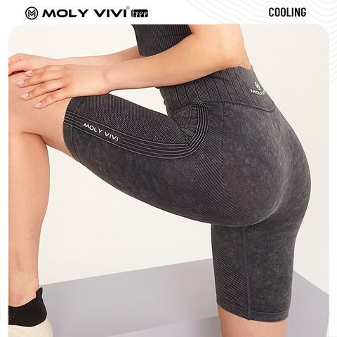 移动端:moly vivi MOLYVIVI牛仔骑行短裤 牛仔五分裤