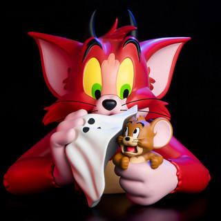 HOWstore SoapStudio猫和老鼠 魔鬼造型半胸像 潮玩手办 珍藏礼品 25cm pvc