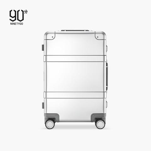 NINETYGO 90分 90分金属旅行箱20寸全铝镁合金拉杆箱高端商务登机行李箱男女时尚
