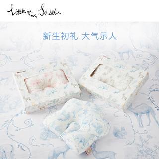 littleage 婴儿枕头0-1-3岁定型防偏头新生儿睡安全感四季透气水洗 巴黎粉