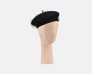 DIOR PARISIAN 贝雷帽 黑色兔毛毡 04DPN911G893_C900