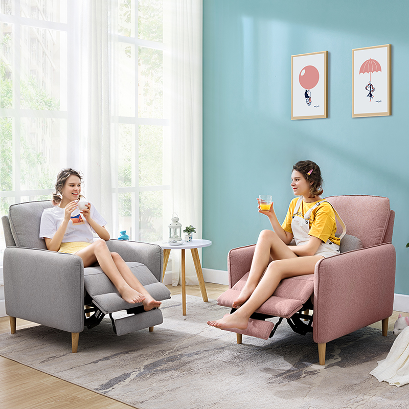 直播芝华仕头等舱单人布艺沙发北欧现代简约客厅沙发懒人椅50363