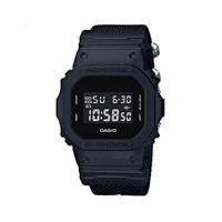 CASIO 卡西欧 卡西欧G-SHOCK-DW男表 200米防水方盘纯黑帆布带石英手表