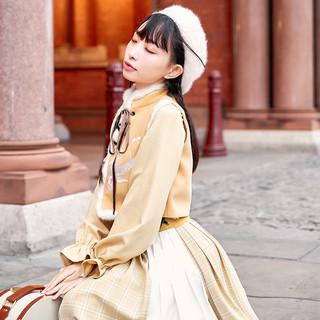 十三余小豆蔻儿[小白狐]绣花半身裙短比甲汉元素刺绣秋冬款(XL、半身裙 小白狐 现货)