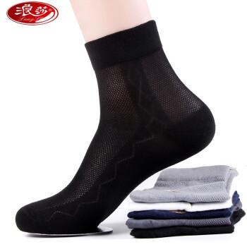 Langsha 浪莎  男士夏季中筒袜 6双装