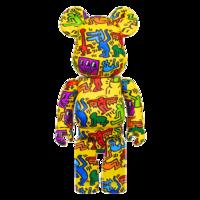 ARTMORN 墨斗鱼艺术 bearbrick涂鸦艺术家Keith Haring 1000%黄色 70*34*25cm PVC材质 2021年