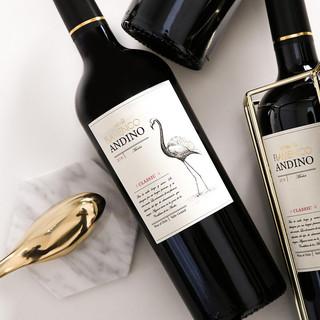 醉鹅娘 智利进口鸟酒白鸟干红葡萄酒梅洛红酒 6支箱装 750ml*2支装