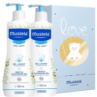 PLUS会员:Mustela 妙思乐 婴儿洗发沐浴露套装 500ml*2瓶