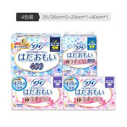 unicharm 尤妮佳   苏菲温柔肌 卫生巾组合装 4包装(极薄量多日用