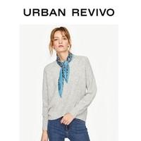 URBAN REVIVO WE45S9BN2009 女装时尚休闲毛衣