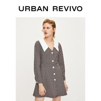 URBAN REVIVO YU02S7EE2003 女装时尚优雅气质翻领连衣裙