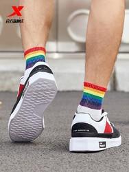 XTEP 特步 特步男鞋板鞋男春季潮鞋男士运动鞋机能滑板鞋子男生跑步鞋休闲鞋