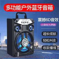 拼搏者    无线蓝牙音箱 便携式迷你广场舞音响 有线话筒+耳机