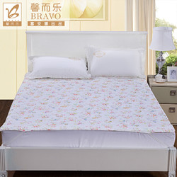 BRAVO 馨而乐 富安娜出品 馨而乐简约小清新印花床垫保护垫床笠款橡筋款