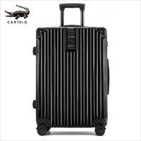 CARTELO 卡帝乐鳄鱼 卡帝乐鳄鱼(CARTELO) 拉杆箱 旅行箱24英寸复箱托运箱 黑