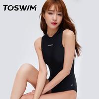 TOSWIM 拓胜 TS91020199 女士连体泳衣 经典高领 L