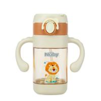 Nuby 努比 努比(Nuby)儿童水杯PPSU带吸管宝宝喝水直饮杯橙色-狮子300ml