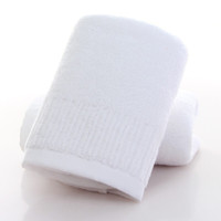 OBXO 源生活 源生活 毛巾 纯棉洗脸巾 强吸水毛巾 全棉加厚面巾成人家用 白色