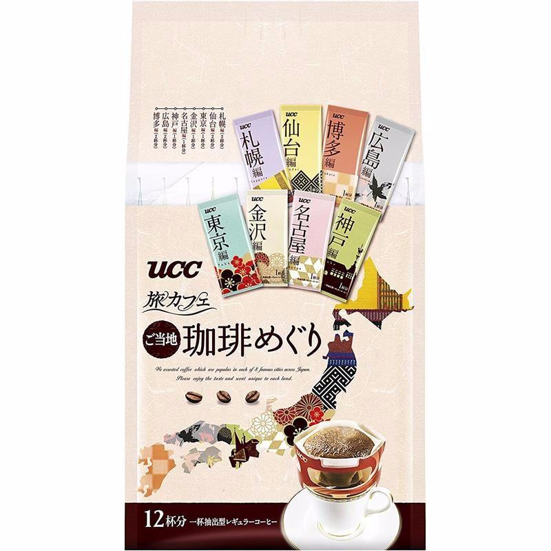 UCC 悠诗诗 轻度烘焙 日本名地 金装挂耳旅咖啡 7g*12条