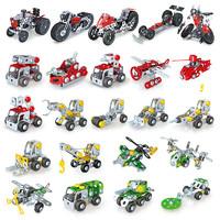 tongli 童励 金属儿童拧螺丝玩具可拆卸DIY车模型 消防主题