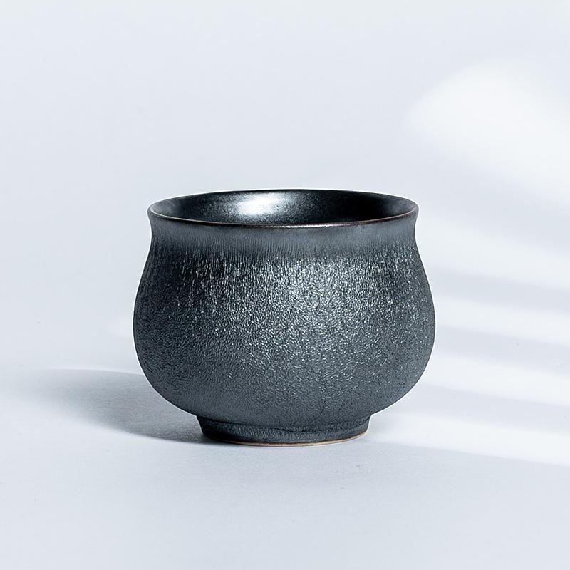 xigu 熹谷  龙泉青瓷 玄石铁釉腰鼓杯(60ml)