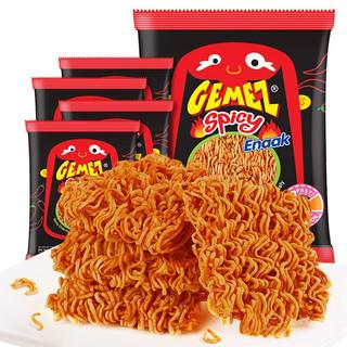 GEMEZ Enaak 印尼进口(GEMEZ Enaak)小鸡干脆面 方便面 干吃面休闲零食 火辣鸡肉味 14g*5包