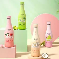 优之良饮气泡水无糖0脂卡白桃葡萄蜜橘味饮料汽水380ml瓶装苏打水
