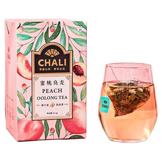 chali 茶里 ChaLi  茶叶  蜜桃乌龙袋泡茶水果茶果粒茶白桃乌龙茶包冷泡茶15包