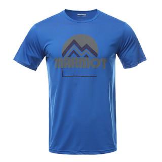 Marmot 土拨鼠 土拨鼠 轻薄舒适运动棉感男士短袖T恤