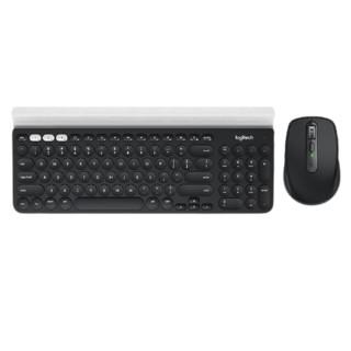 logitech 罗技 K780键盘+Anywhere 3鼠标 2.4G蓝牙双模无线键鼠套装 石墨黑 799元包邮
