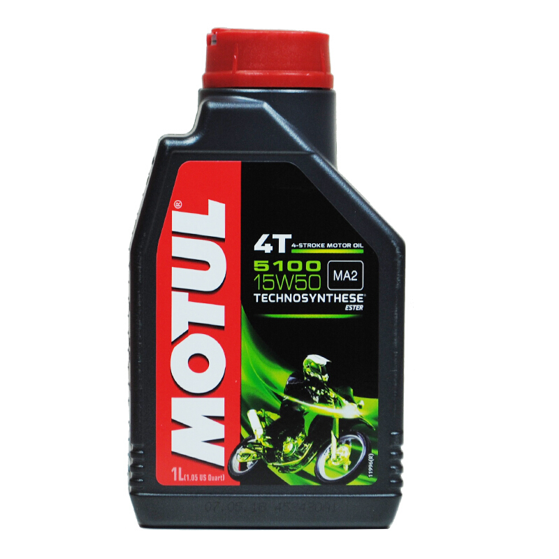 MOTUL 摩特 5100 4T 半合成摩托车机油 15W-50 SM级 1L
