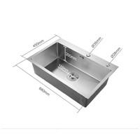 ARROW 箭牌卫浴 AE5568268G 304不锈钢水水槽 豪华版