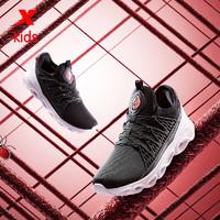特步(XTEP)童鞋中大童男童运动鞋2020年春季儿童跑鞋 680115119602 黑红 38码