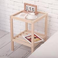 床头柜全实木小型北欧床边柜简易置物架ins风卧室日式收纳储物柜 床头柜小号