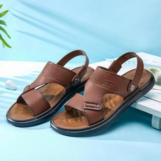 YEARCON 意尔康 21年男士凉鞋凉拖夏季休闲男鞋透气沙滩鞋男