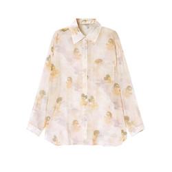 PEACEBIRD 太平鸟 太平鸟女士时尚2021年夏季新款纹样长袖衬衫