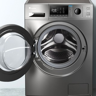 LittleSwan 小天鹅 12日0点秒杀:小天鹅(LittleSwan)滚筒洗衣机全自动 10公斤  银色滚筒 TG100EM01G-Y50C