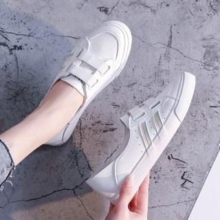 RED DRAGONFLY 红蜻蜓 2021春夏新款女鞋一脚蹬两穿小白鞋休闲鞋